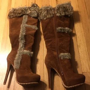 Cognac colored boots from shoe dazzle.